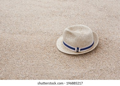 Hat on a sand