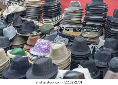 Hat store in public market.