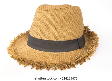 Hat Summer on White Isolated Background