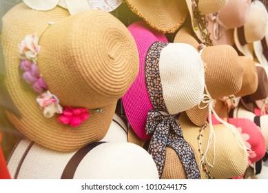 Hat variety shop in Koh Kret Nonthaburi, Thailand