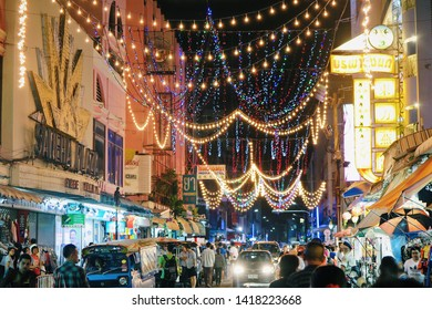 Hat Yai, Thailand January 1, 2017: Thailand southern local street food in the night market, Hat Yai Province.
