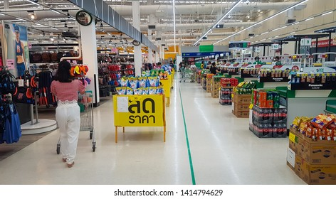 HAT YAI, THAILAND - MAY 22, 2019: Inside of the Tesco Lotus market in hat yai at songkhla, Thailand.