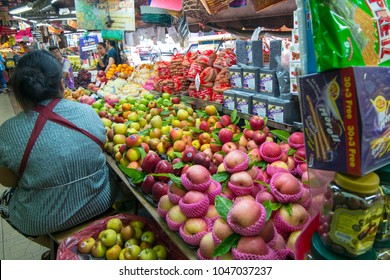 Hat Yai,Thailand-2018-March-04 : Fresh fruit in Kim Yong fresh market at Hat Yai,Song Khal,Thailand