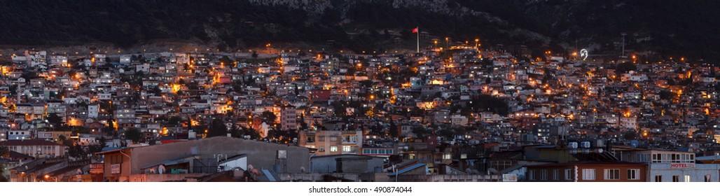 Hatay, Turkey - April 22, 2016 : Antakya city center. Hatay, Turkey