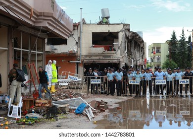 Hatay, Turkey- Reyhanlı district of Hatay, on May 11, 2013, 53 people died as a result of two separate bomb attacks. May 13, 2013.