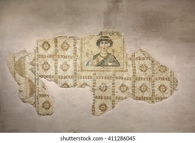 Hatay, Turkey - June 24, 2015 : Mosaic exhibits in New Hatay Archeology Museum, Turkey. Collection of mosaics dating back to the Roman era in the 2nd and 3rd centuries