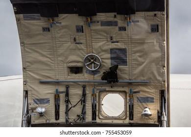 Hatch of a military machine