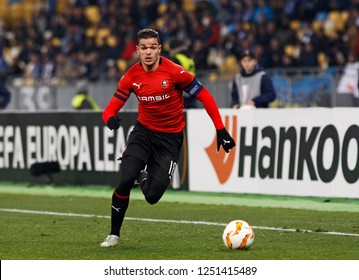 Hatem Ben Arfa of Stade Rennais in action during the UEFA Europa League soccer match Dynamo Kyiv vs Stade Rennais FC in Kiev, Ukraine, 8 November 2018.