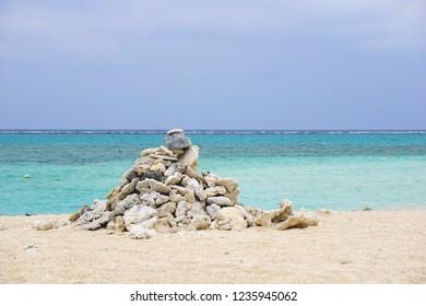 Hateno-Hama Beach in Kumejima, Okinawa