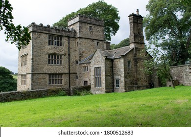 Hathersage, Derbyshire, UK. August 21, 2020. North Lees Hall in Peak District National Park. Charlotte Bronte's Thornfield Hall.