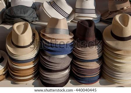 b63d6a0c Hats Sale Stall Venice Stock Photo (Edit Now) 440040445 - Shutterstock
