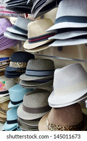 Hats showcase perspective market shop