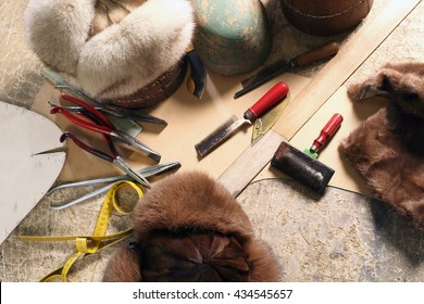 Hats from the skin. Forming and sewing fur hats