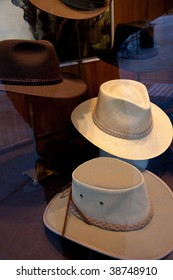 Hats in Window in Seattle Washington
