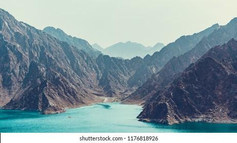 Hatta Dam in Dubai