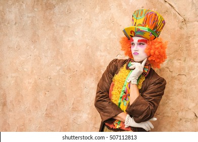 Hatter on isolated background