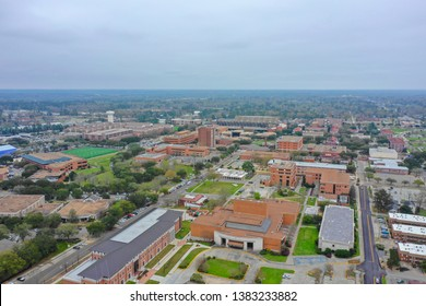 HATTIESBURG, MS, USA - MARCH 15, 2019: Aerial photo of Southern Mississippi University