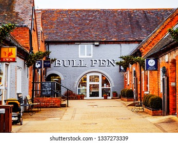 Hatton, Warwickshire, English Midlands, England UK, March 12th. 2019, This is Hatton Country World Courtyard Shopping Village. A converted farm.