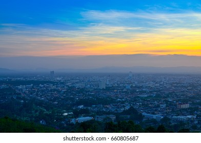 Hatyai city sunset, city of thailand
