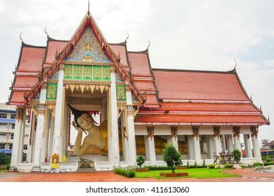 Hatyai, Thailand - 3 September 2015: Wat Hat Yai Nai Temple of The Reclining Buddha in Southern Thailand..