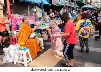 Hatyai, Thailand - Circa October,2019 : Street shoot at Kim Yong fresh market,Song Khal street.