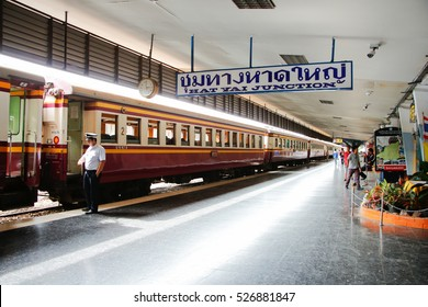 HATYAI THAILAND - September 23, 2016:Hatyai Station is Central of Train station in songkla southern Thailand. Diesel train use for transfer passenger to their destination.