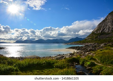 Haukland Beach at Lofoten Islands, Norway
