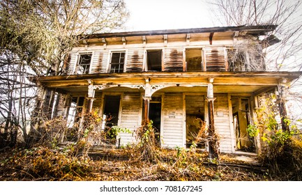 Haunted house in the woods