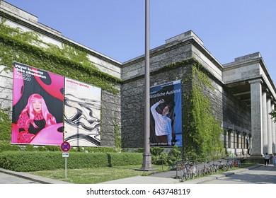 Haus der Kunst art museum, Munich, Bavaria, Germany, Europe, 28. April 2007