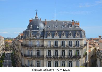 Haussmann architecture building, in Montpellier city, south of France