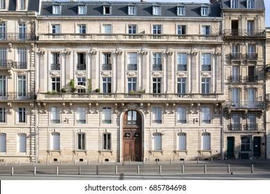 The Haussmann building in Bordeaux, France