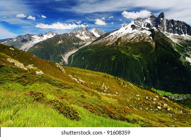 Haute Savoie Mountain landscape, France, Europe