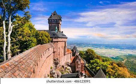 Haut-Koenigsbourg Castle - impressive medieval fortress in France