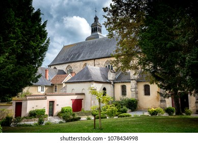 Hautvillers, France: Interior of the Saint-Pierre Abbey of Hautvillers with the grave of Dom Perignon in the Champagne district Vallee de la Marne in France.