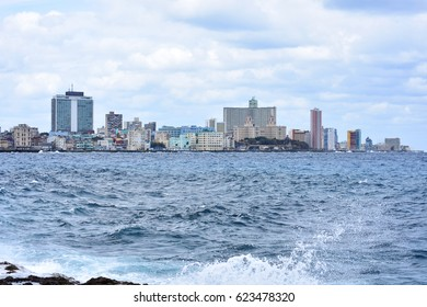 Havana city view from Malecon