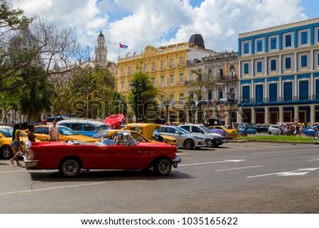 Havana Cuba 02 10 2018 Vintage Stock Photo Edit Now 1035165622