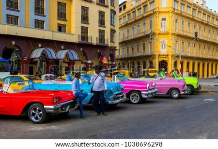Havana Cuba 02 10 2018 Vintage Stock Photo Edit Now 1038696298