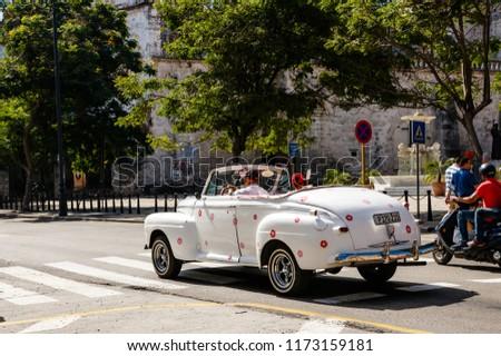 Havana Cuba 2018 Old American Cars Stock Photo Edit Now 1173159181