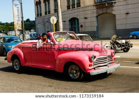 Havana Cuba 2018 Old American Cars Stock Photo Edit Now 1173159184