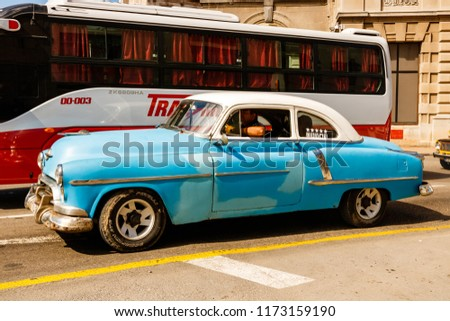 Havana Cuba 2018 Old American Cars Stock Photo Edit Now 1173159190