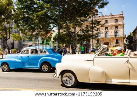 Havana Cuba 2018 Old American Cars Stock Photo Edit Now 1173159205