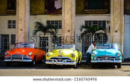 Havana Cuba 2018 Vintage American Classic Stock Photo Edit Now