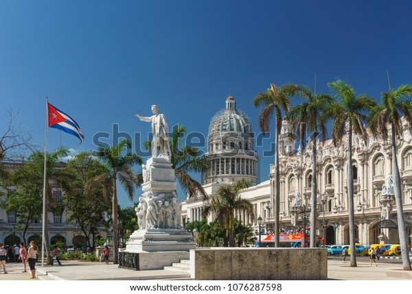 Havana / Cuba - April 18, 2018: Tourism in Cuba is on the decline after rumors of further tightening restrictions on travel to there by the United States government.