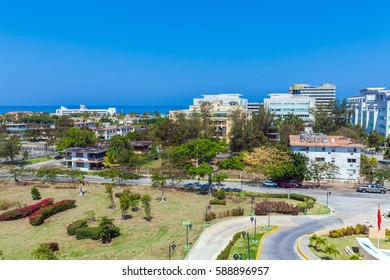 HAVANA, CUBA - APRIL 2, 2012: Modern hotels for foreign tourists along the coast of the Atlantic ocean
