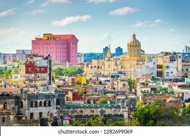 Havana, Cuba downtown skyline.
