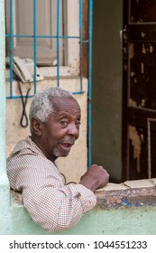 Havana, Cuba - Feb 11, 2018: Old Havana Cityscape with local People enjoying everyday life.