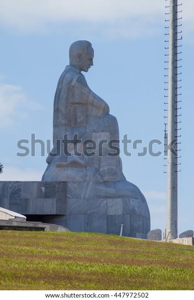 HAVANA, CUBA - FEB 21, 2016: Monument of Jose Marti in Havana, Cuba