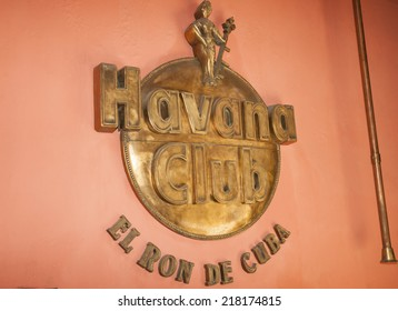 HAVANA, CUBA - JUNE 30: Havana Club museum sign on June 30, 2012 in Havana, Cuba. Manufacturers of famous Cuban rum museum shows the history of the brand with a shop of  the company's products.