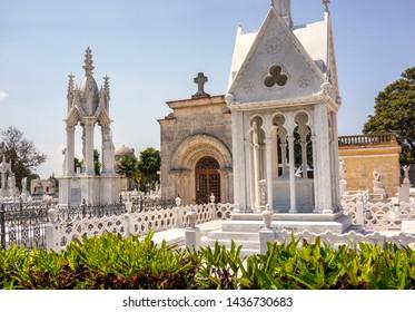 HAVANA, CUBA - MARCH 21, 2015 - the Colon Cemetery  (Cementerio de Cristóbal Colón) founded in 1871