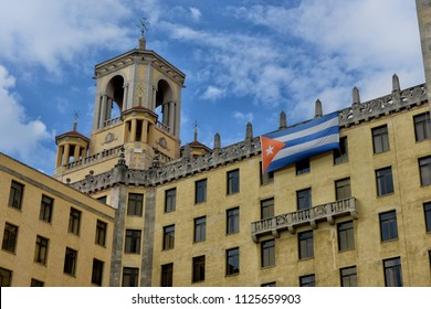 Havana, Cuba, May 1, 2017. Attraction and the famous Hotel National